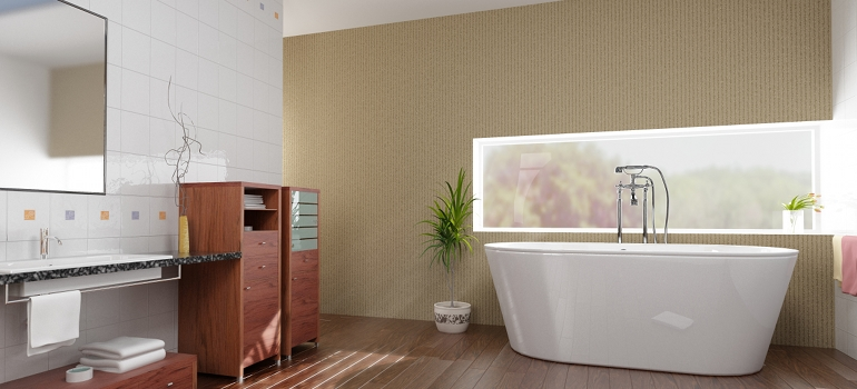 Modern Bathroom with Large Soaker Tub