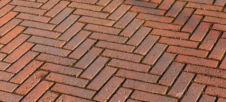 Brick Paver Driveway Pictures Ideas And Projects Herringbone Patio