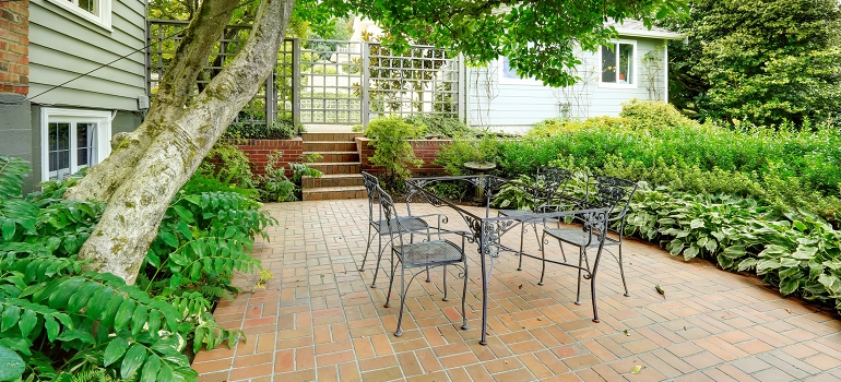 Brick Patio with Table