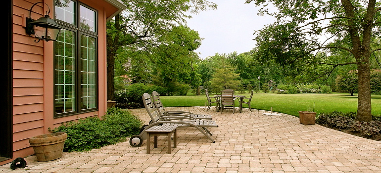 Outdoor Brick Patio