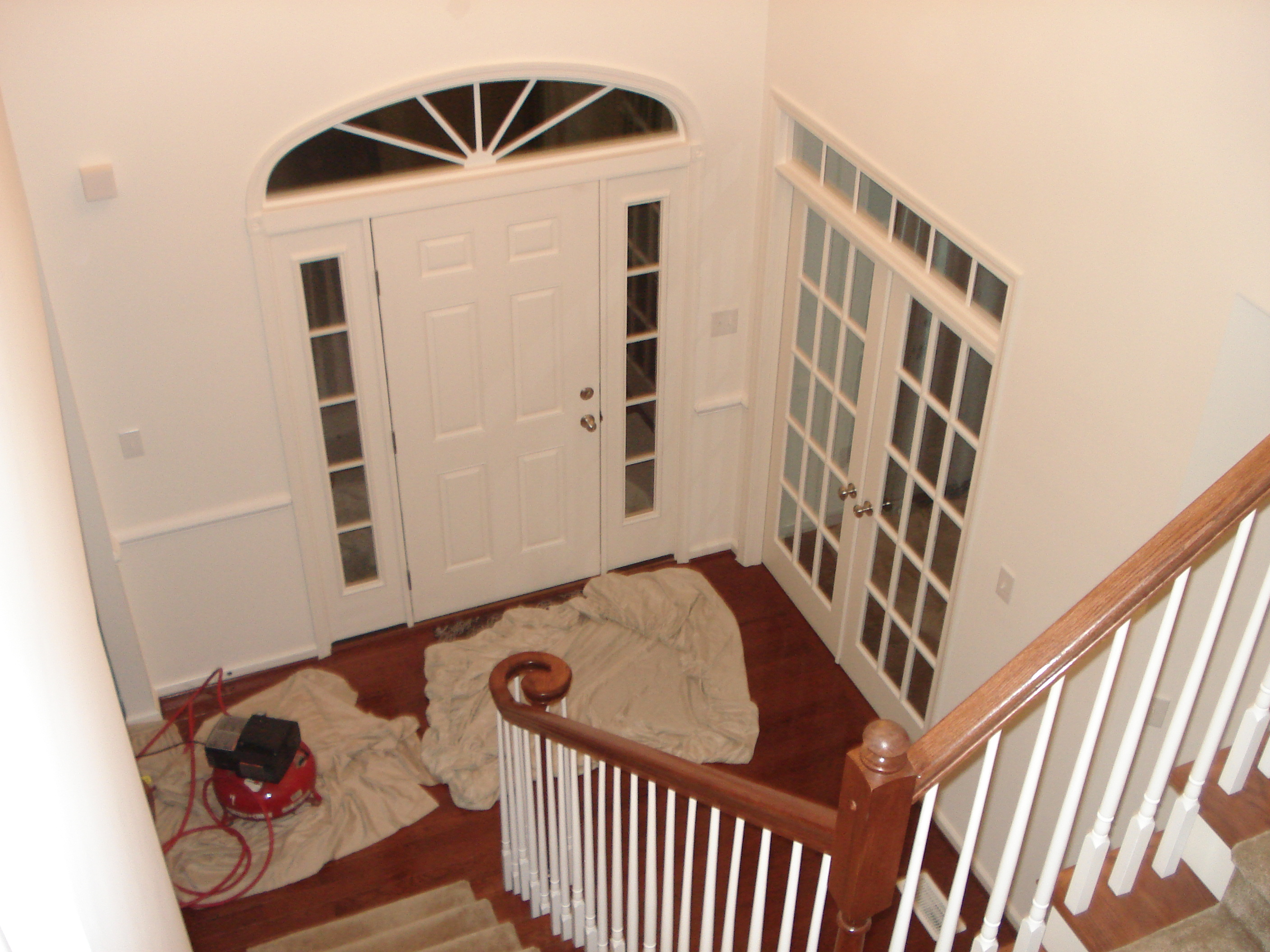 Foyer With Chair Rail : New chair rail molding in entryway renocompare