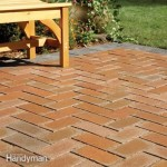 Concrete Patio Covered With Brick Pavers