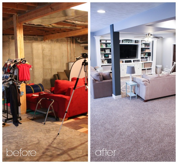 Finished Basement Before And After Photos