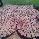 Unique Patio Project Using Broken Brick Pavers