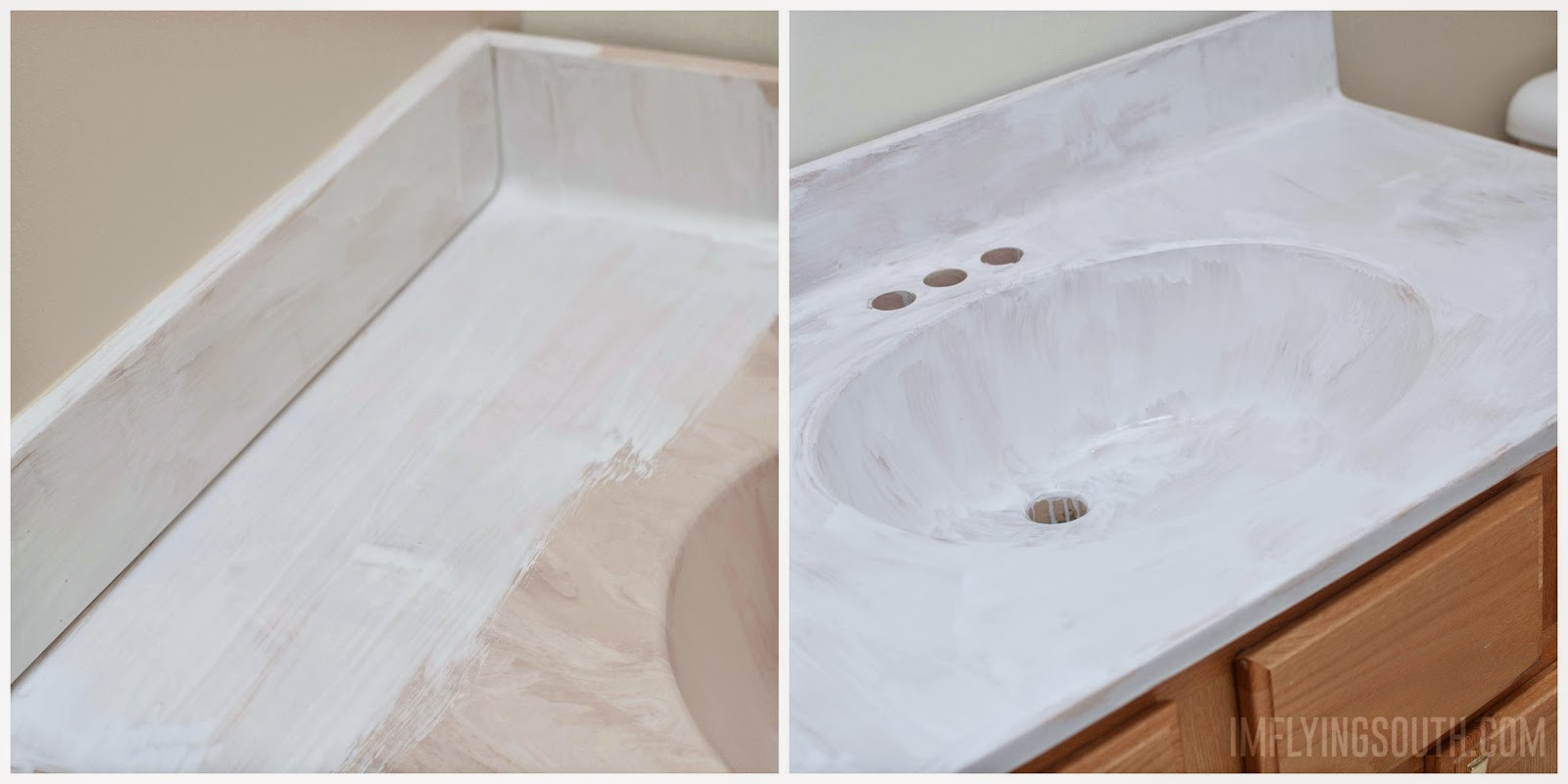 how-to-paint-a-bathroom-sink-Im-Flying-South-featured-on-@Remodelaholic