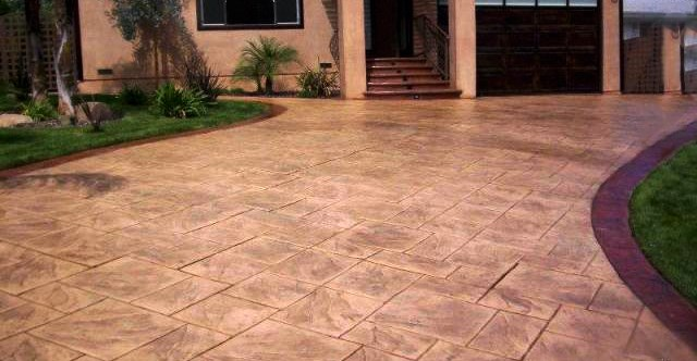 Design Ideas For a Stamped Concrete Driveway | RenoCompare