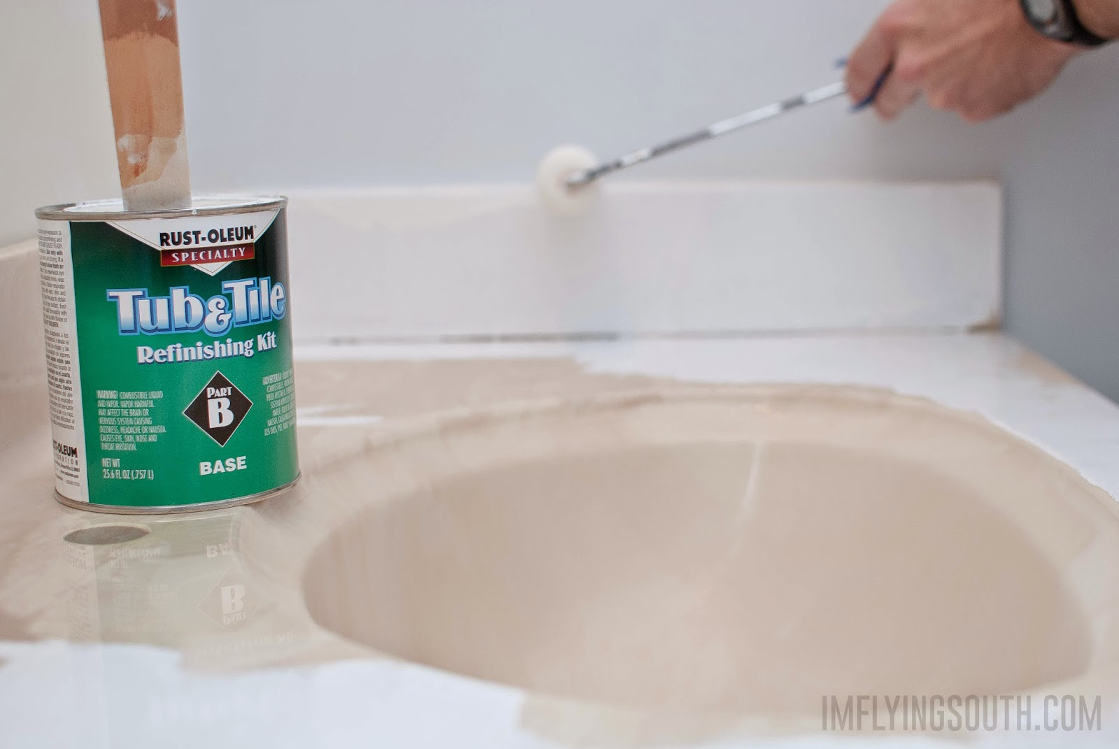 Painted Bathroom Sink And Countertop Makeover Renocompare