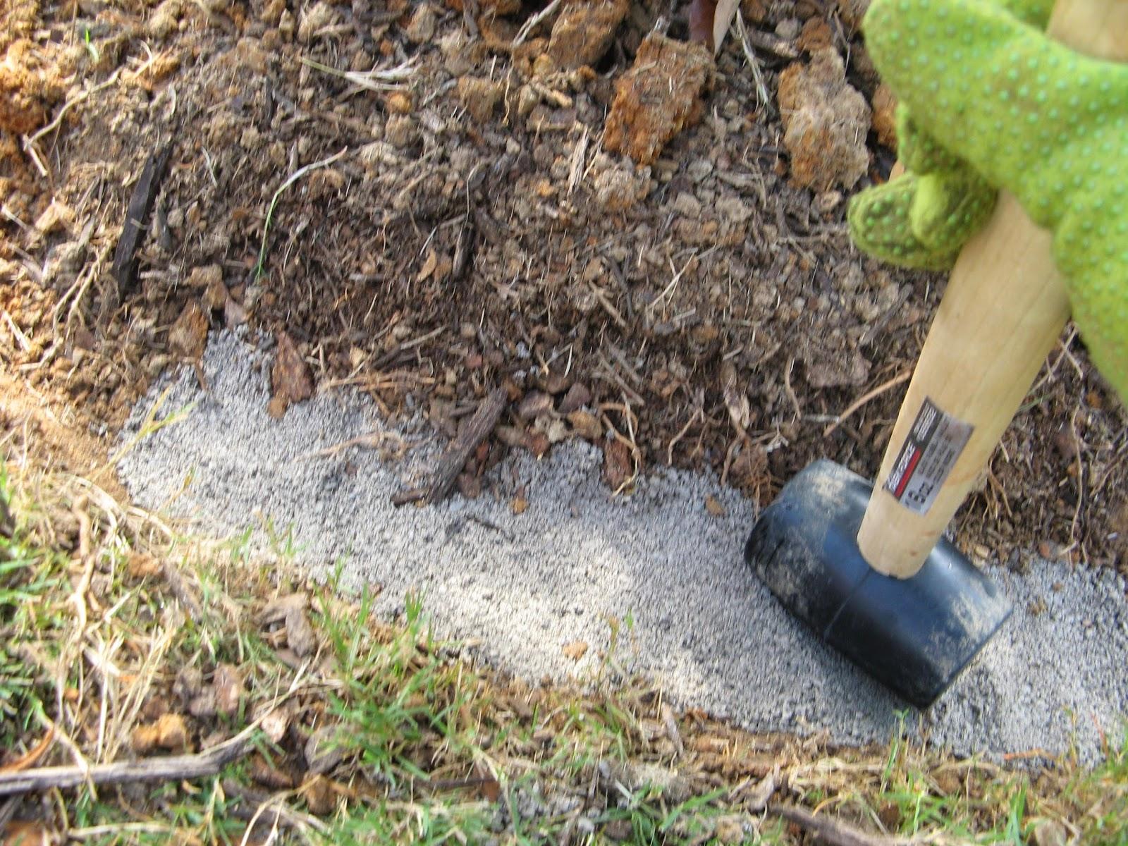 sand as a base