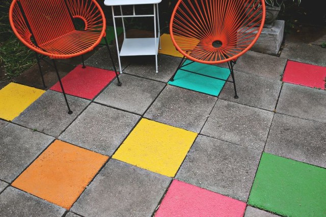 diy colored concrete tiles