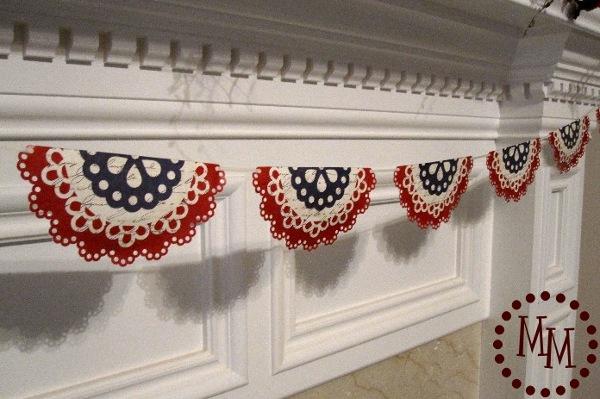 patriotic doily