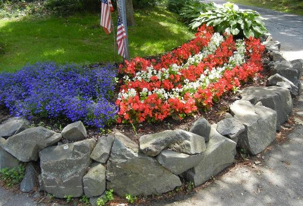 patriotic flowerbed