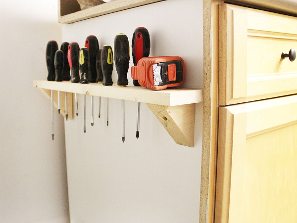 screwdriver shelf