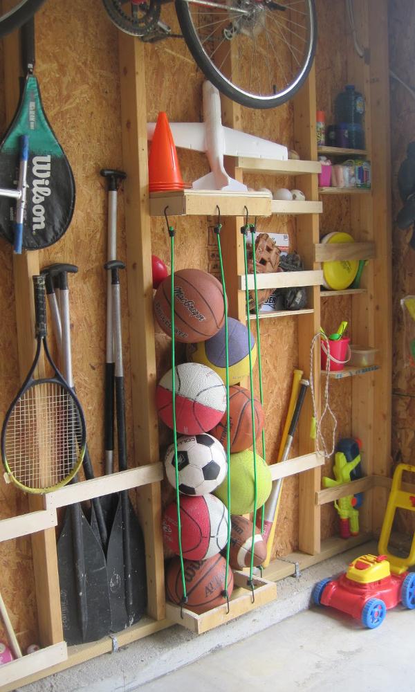 sports ball storage