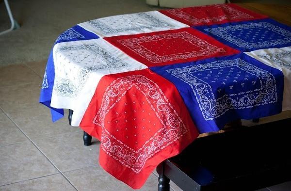 patriotic bandana tabelcloth