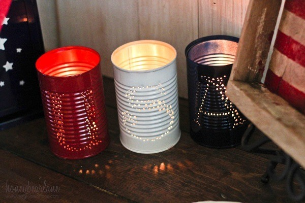 patriotic tin can luminaries