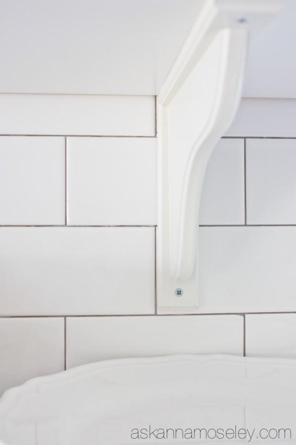 diy white subway tile