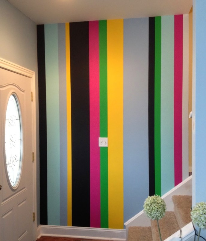 bold painted stripes