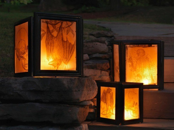 halloween picture frame lanterns