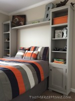 Great Step by Step Instructions for a Boy's Bedroom Storage