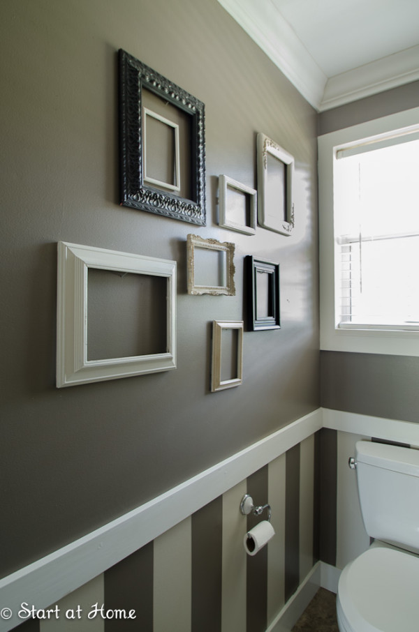 15 Half Painted Wall Decor Ideas: Chair Rail Molding Ideas For The Bathroom