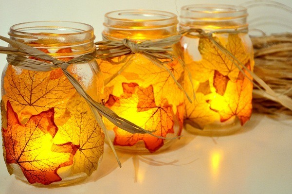 autmn leaf candle holder