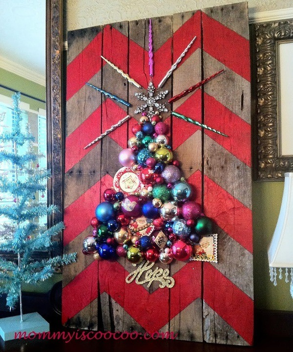 chevron pallet christmas tree
