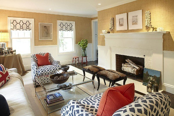 chair rail living room