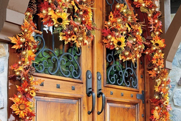 fall floral garlands