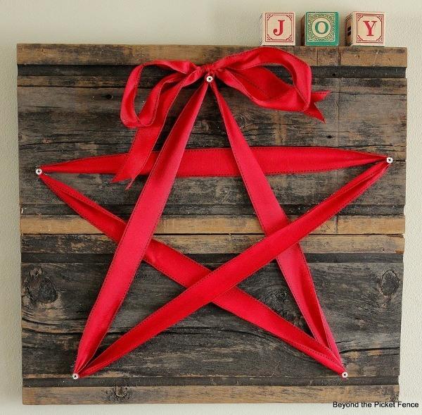 ribbon and wood star