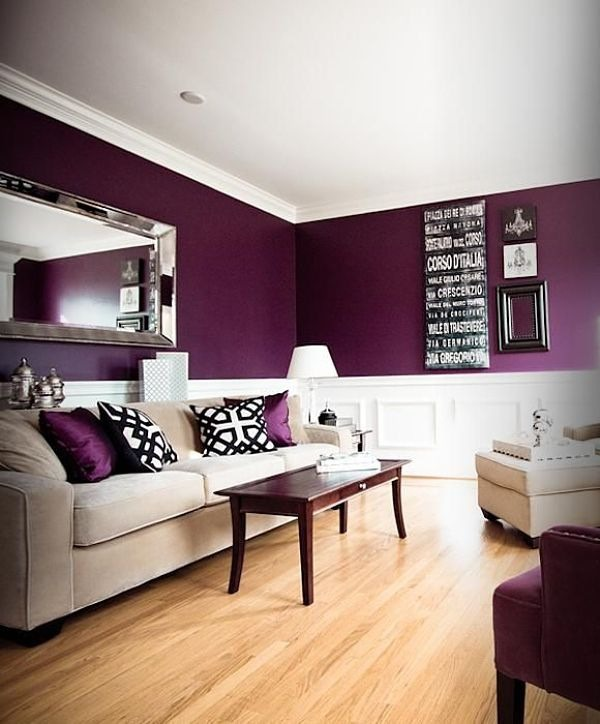 Lovely Chair Rail Ideas For Living Room Part - 2: Rich Purple Rich Purple