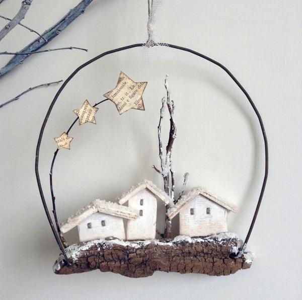 rustic snowscape decoration