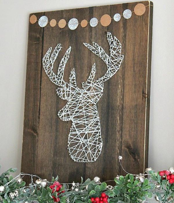 string art reindeer