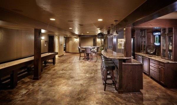 concrete basement flooring