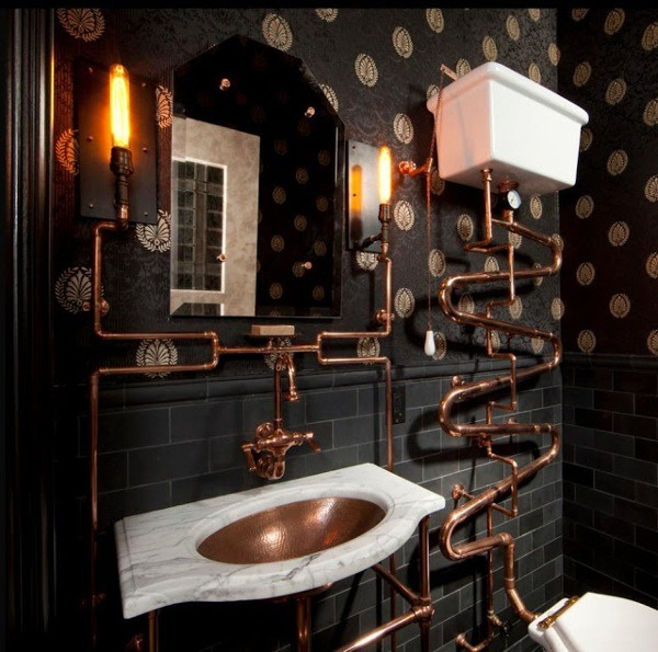 copper faucets & piping