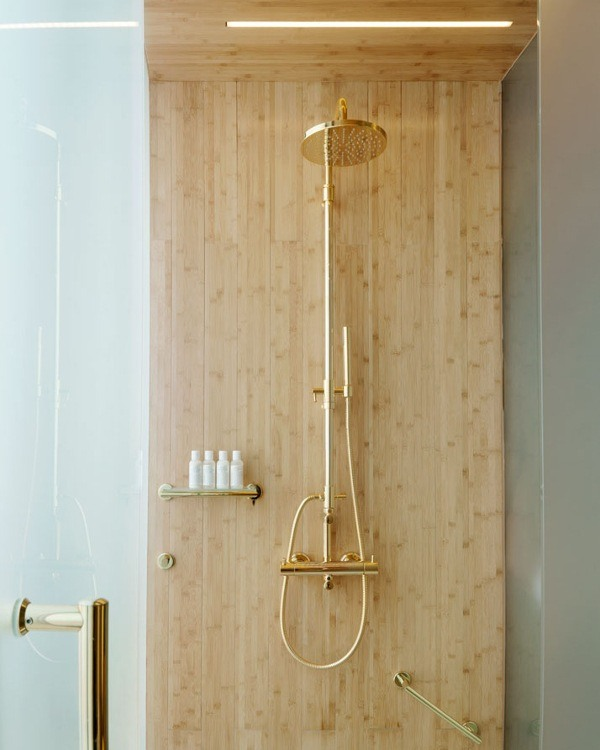 sleek gold faucets