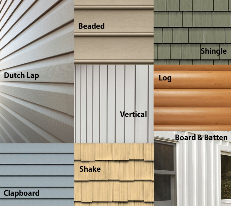Types of vinyl siding options and pros cons vs other for Types of house siding materials