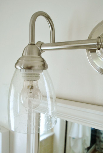 The Plastic Bases That Light Bulbs Into Protruded Below Lower Edge Of Housing This Had Been Disguised In Old Fixture By