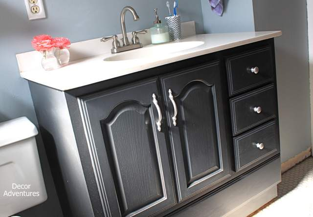 chalk painting bathroom cabinets bathroom vanity makeover on a small budget renocompare 17656