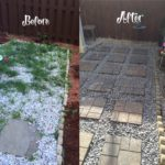 How to Lay Concrete Patio Pavers – Before and After