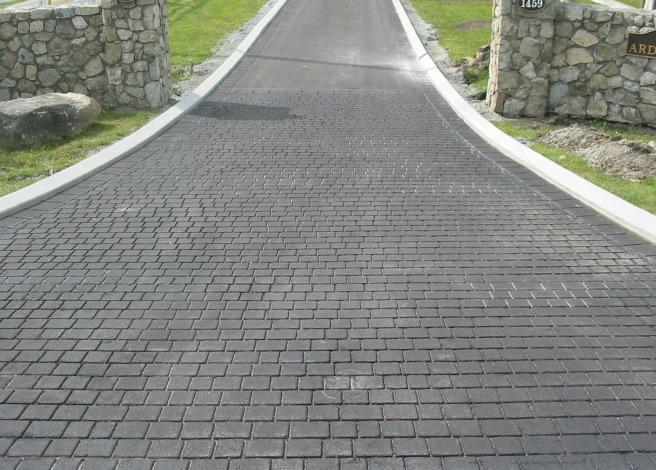 Stamped Concrete Pavement : Asphalt driveway options installation repair
