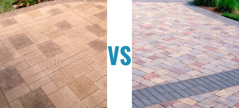 Stamped Concrete Vs Pavers Which Offers The Best Value For Money - Cost to lay outdoor tiles