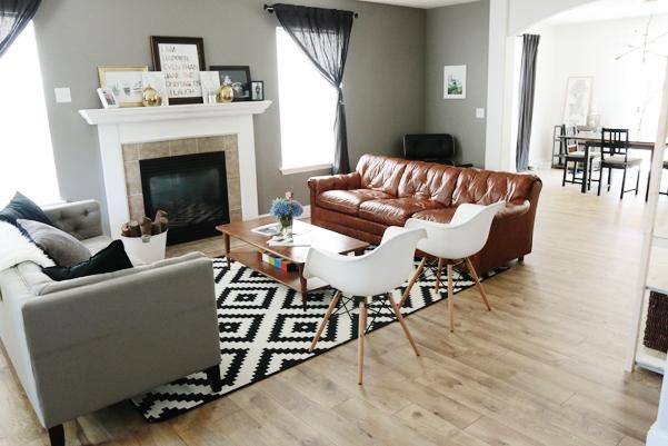 Light Bright Living Room Makeover Idea