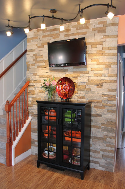 Stone Accent Wall Diy Air Stone Wall In A Living Room