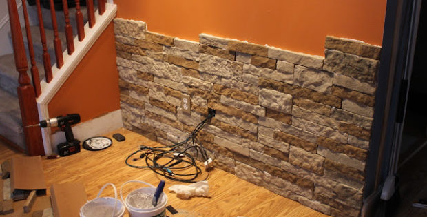 Stone Accent Wall DIY Air In A Living Room