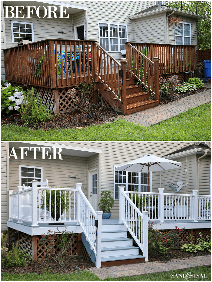 Diy Deck Remodel Deck Stain Amp Vinyl Railings Make All