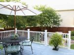 DIY Deck Remodel – Deck Stain & Vinyl Railings Make All the Difference!