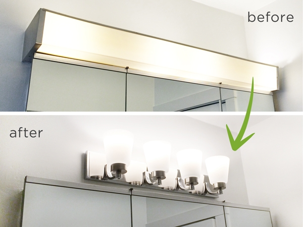 Bathroom Vanity Light Fixtures...Up or Down!? | RenoCompare