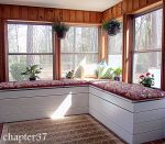 Home Sunroom Makeover with Storage Benches