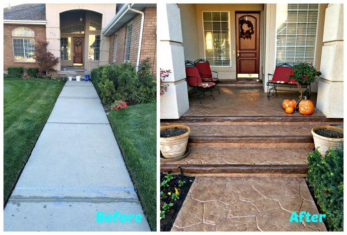 Diy concrete step Bluestone Treads Diy Stamped Concrete Step By Step Guide Juniordeveloperclub Diy Stamped Concrete Step By Step Guide Renocompare